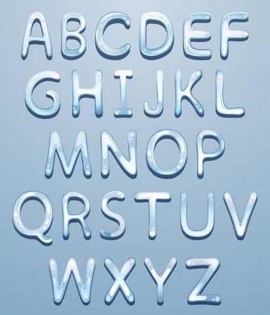 ice alphabet: Vector ice alphabet