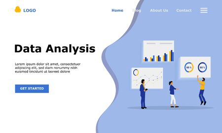Data Analysis Vector Illustration Concept, Suitable for web landing page, ui, mobile app, editorial design, flyer, banner, and other related occasion