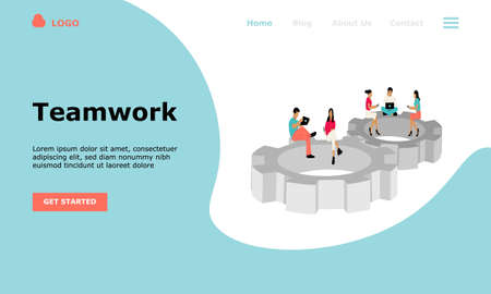 Business Teamwork Vector Illustration Concept , Suitable for web landing page, ui, mobile app, editorial design, flyer, banner, and other related occasion
