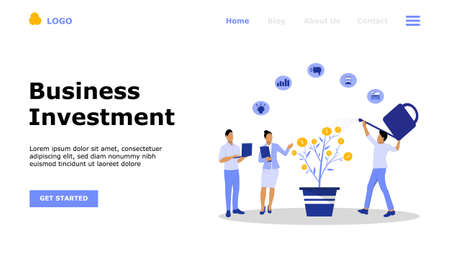 Business Investment Vector Concept Illustration, Suitable for web landing page, ui, mobile app, editorial design, flyer, banner, and other related occasion