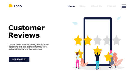 Customer Reviews Vector Concept Illustration, Suitable for web landing page, ui, mobile app, editorial design, flyer, banner, and other related occasion