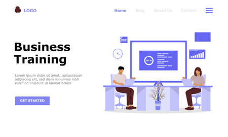 Business Training or Courses Vector Illustration Concept, Suitable for web landing page, ui, mobile app, editorial design, flyer, banner, and other related occasion