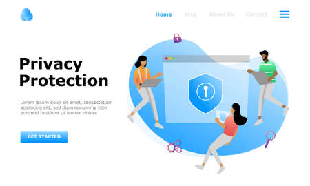 Data Protection Vector Illustration Concept, Suitable for web landing page, ui, mobile app, editorial design, flyer, banner, and other related occasion