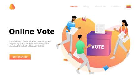 Online Vote Vector Illustration Concept, Suitable for web landing page, ui, mobile app, editorial design, flyer, banner, and other related occasion Illusztráció