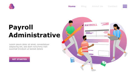 Salary Payment Administrative Vector Illustration Concept , Suitable for web landing page, ui,  mobile app, editorial design, flyer, banner, and other related occasion