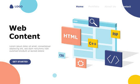 Programmer and Engineering Development Vector Illustration Concept, Suitable for web landing page, ui, mobile app, editorial design, flyer, banner, and other related occasion Vektorgrafik