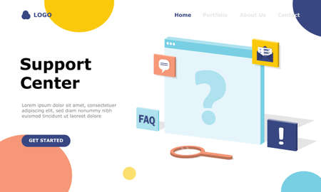 Frequently Asked Questions Vector Illustration Concept , Suitable for web landing page, ui,  mobile app, editorial design, flyer, banner, and other related occasion Illusztráció