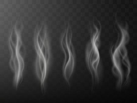 Smoke isolated on transparent background.