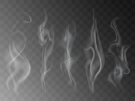 Smoke isolated on transparent background.