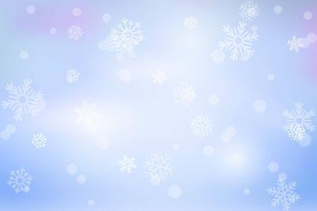 Vektorstarker Schneefall, Schneeflocken in verschiedenen Formen und Formen. Schneeflocken, Schneehintergrund. Fallende Weihnachten.