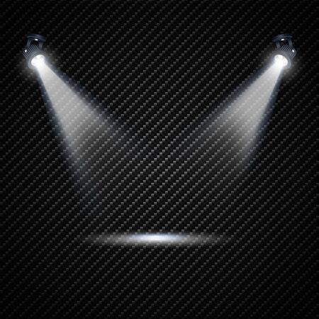 Vector Spotlights. Scene. Light Effects. Vector illustration.  イラスト・ベクター素材
