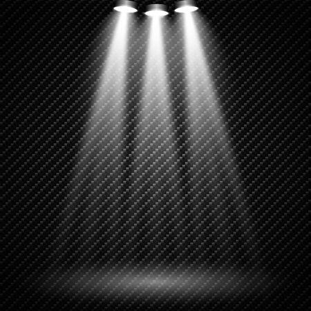 Spotlights Scene. Light Effects illustration.