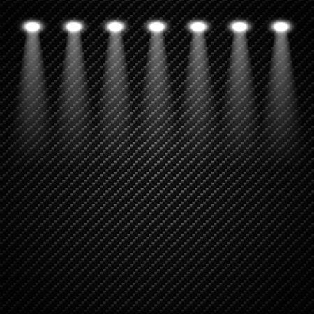 Spotlights Scene. Light Effects illustration.  イラスト・ベクター素材