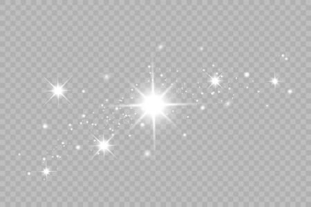 Shining bokeh isolated on transparent background. Vector illustration