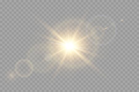 Vector transparent sunlight special lens flare light effect