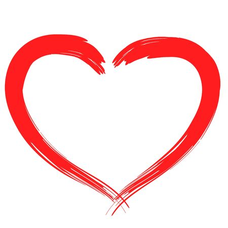 Hand drawn Heart vector illustration - calligraphy. Vecteurs