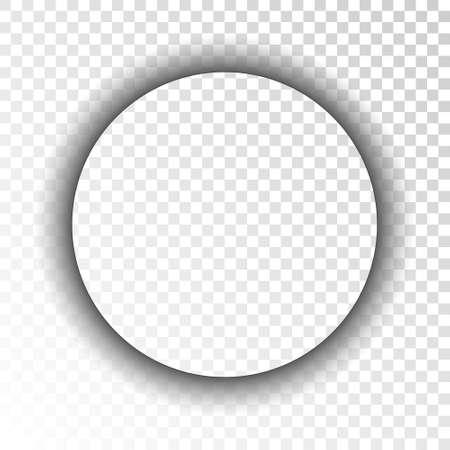 Dark transparent realistic shadow. Circle. Vector illustration Vettoriali