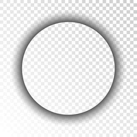 Dark transparent realistic shadow. Circle. Vector illustration