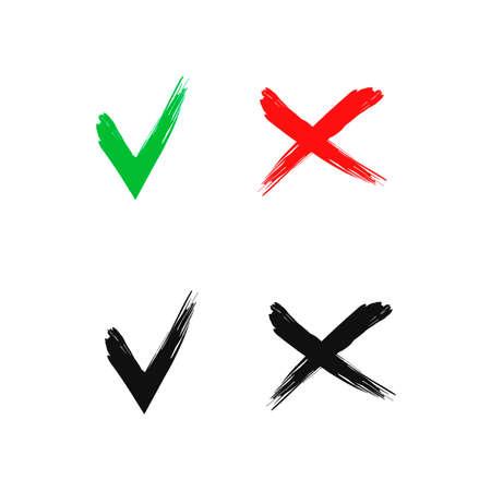 Check Mark, X, Yes, No, icon, graphic, symbol, Vector.