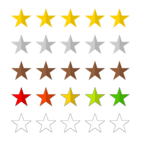 Set of vector colorful rating icons