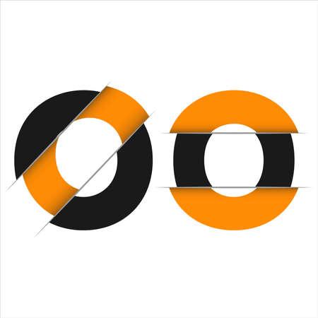 Letter O logo icon design template elements Ilustração