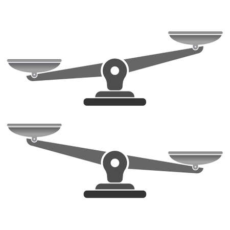 Simply weight icon. Compare logo symbol. Scales judgment pictogram. Ui comparison element. User interface simile sign. vector. Logó