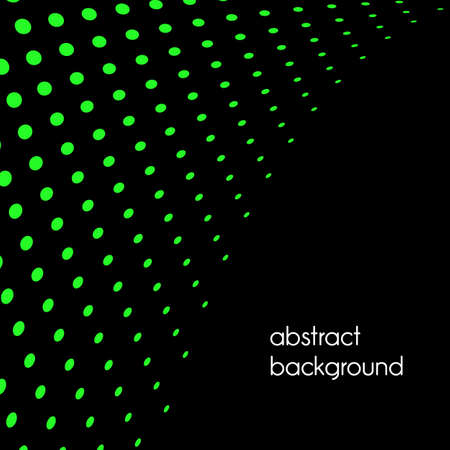 Vector halftone dots. Green dots on green background. Foto de archivo - 168173541