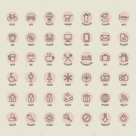 Universal icons illustration  Vector