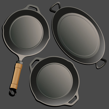 cookware: Cocina conjunto de vectores Retro