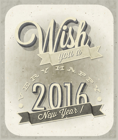 Vintage New Year's Eve Card