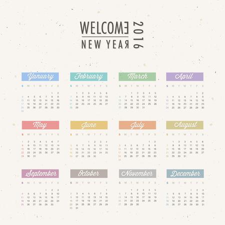 2016 calendar design