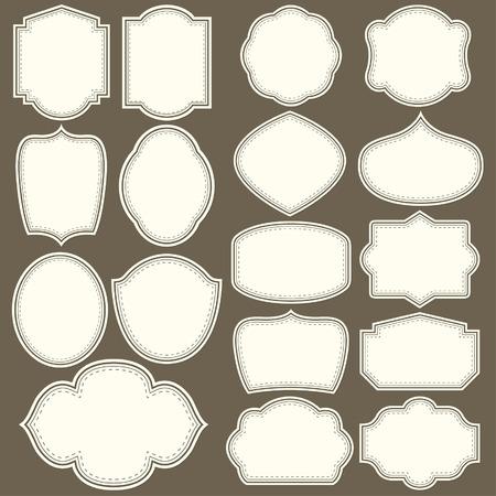 Etiketten Formen für alle Design. Blank-Etiketten. Tag-Silhouetten Sammlung Standard-Bild - 55828490