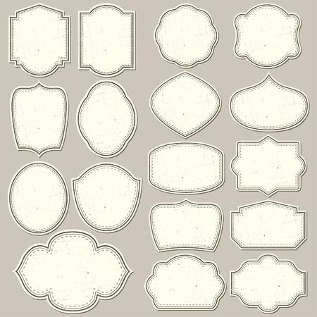 Etiketten Formen für alle Design. Blank-Etiketten. Tag-Silhouetten Sammlung