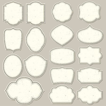 Labels shapes for all design. Blank labels set. Tag silhouettes collection