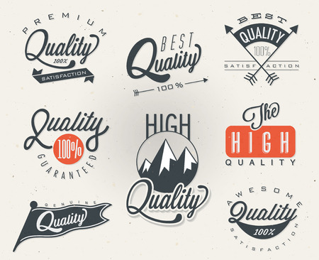 Premium Quality, Most Popular labels collection.