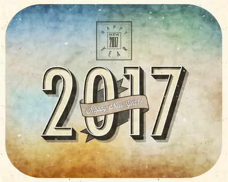 Happy New Year! 2017. Ilustrace
