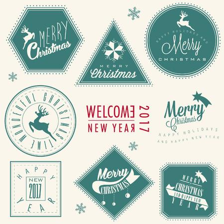 Fröhliche Weihnachten! Weihnachtskarte Illustration