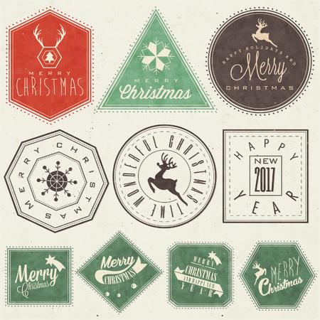 Fröhliche Weihnachten! Weihnachtskarte Standard-Bild - 68475342