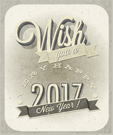 Vintage New Years Eve Card.