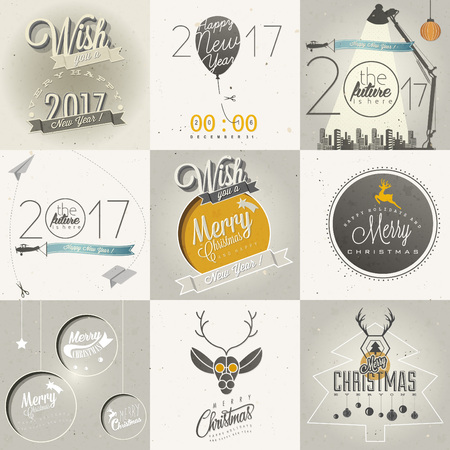 Christmas decoration collection Ilustracja
