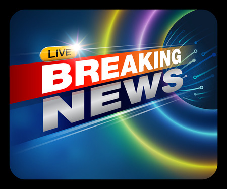Breaking News Live Banner on TV , internet , broadcast. Business and Technology News .