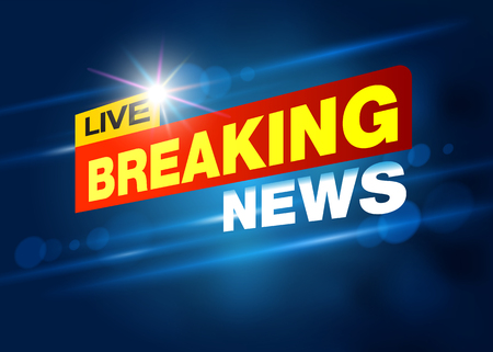 Breaking News Live Banner on TV , internet , broadcast. Business and Technology News Background. vector eps10