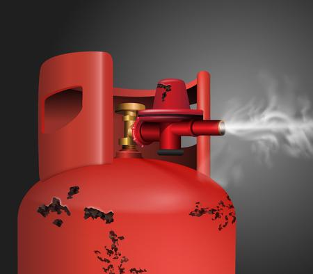 Rusty old gas tank vector illustration Illustration