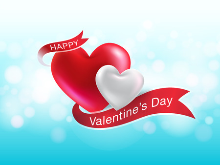 valentines day 3d heart realistic. Can be used in the poster, web, wallpaper, brochure, flyers, invitation, banners, template. Vector realistic file.