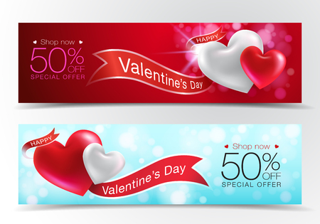 Valentines day special offer sale background Can be used in the poster, wallpaper, brochure, flyers, invitation, banners, voucher, template. Vector realistic eps10.