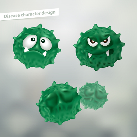 Design of disease. use of science, medicine, soap, advertising. Vector realistic file.
