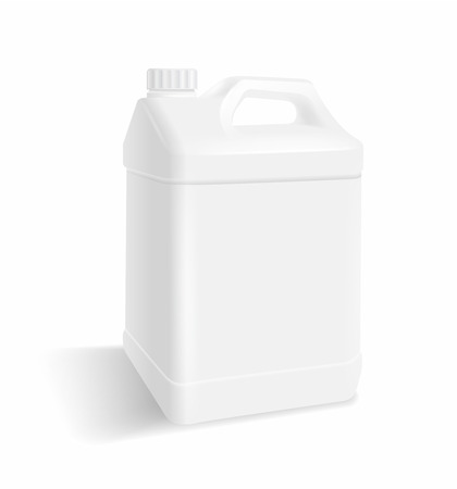 White plastic gallon on a white background Vector realistic file.