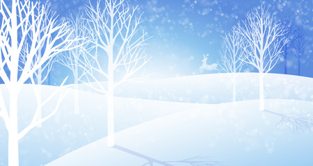 Winter snowfall landscape background. Cold weather In the big jungle. Vector EPS file.