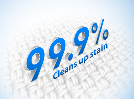 It means cleaning the dirt on the fabric. Expanded Fabric The show is clean white. With 99.9% removal of dirt and germs. Vector realistic file.