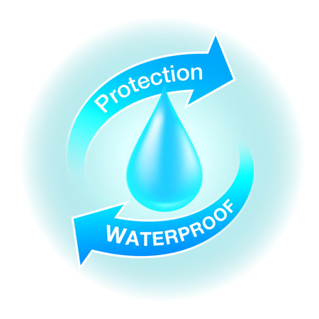Waterproof Protection icons Realistic Media about resistant products Vector Realistic file.